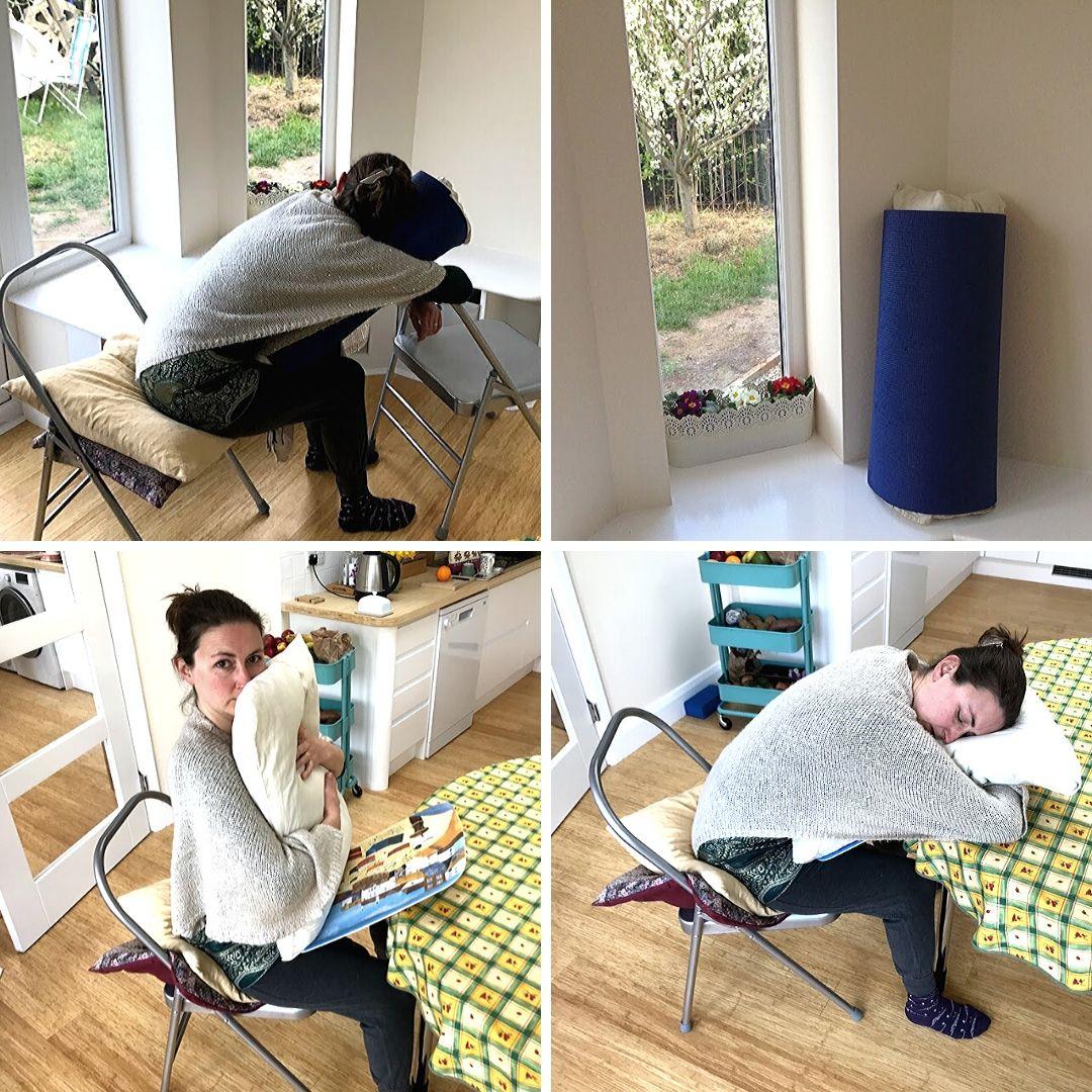 Chair Child Pose